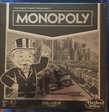 Monopoly Silver Line Edition Board Game Hasbro New Ages 8+ Fast Ship Guaranteed
