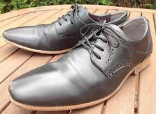Emilio Luca Black Leather Derby Shoes Welted Sole Lace Formal Men's UK 11 EU 45