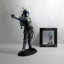 "2003 Vintage Star Wars ✧ Jango Fett ✧ Attakus AOTC 16"" Statue nr MIB"