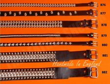 Bullet New Leather Gothic Punk Biker Metal Studded UK Made Quality Waist Belts