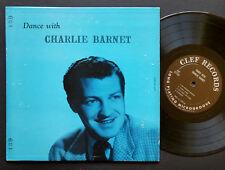 "CHARLIE BARNET Dance With.. 10"" LP CLEF RECORDS MGC-139 US 1953 DG MONO JAZZ"