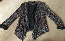 New Look Floral Waterfall Jacket Size 12 VGC !