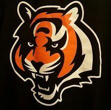 Reebok NFL Cincinnati Bengals Logo Long Sleeve Black  T Shirt Men's XL NWT