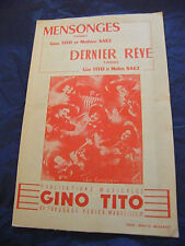 Partitura Se encuentra ÚLTIMO rêve Gino Tito y Saez de Mathieu Tangos