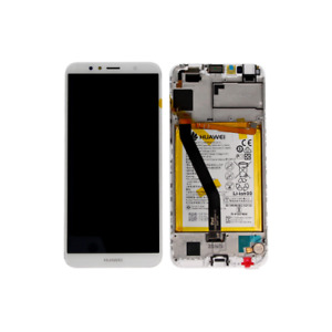 TOUCH SCREEN VETRO LCD DISPLAY FRAME ORIGINALE Huawei Y6 2018 / HONOR 7A BIANCO