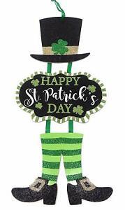 "St. Patrick's Day 23"" Irish Leprechaun Welcome Dangle Wall Door Decoration"