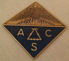 AMERICAN CHEMICAL SOCIETY PAPERWEIGHT BRASS ENAMEL DONDERO INC SQUARE ACS EAGLE.