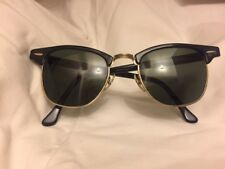Occhiali sole sunglasses RAY-BAN Bausch&Lomb Clubmaster W0365 anni '70 used