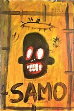 Jean-Michel Basquiat * Untitled * SAMO Postcard Style acrylic painting