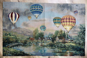 Balloon Glow Hot Air Balloons Over Mountain Tapestry Wall Hanging ~ Nicky Boehme