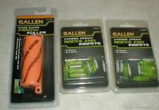 New 12-Allen Clear Green Carbon Arrow Nocks & Inserts & Hand Saver Arrow Puller