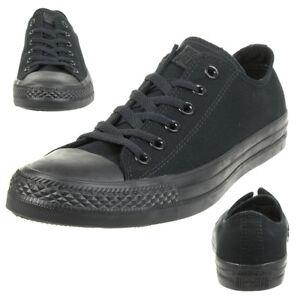 Converse All Star Bœuf Chuck Chaussures Baskets en Toile Noir Monochrome M5039C