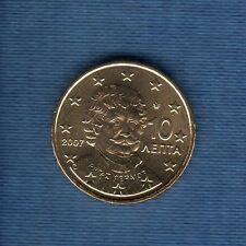 Gréce - 2007 - 10 centimes d'euro - Pièce neuve de rouleau -