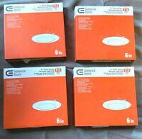 "EliteLighting 4/"" Recessed Lighting Shower WhiteTrim B452 Alzak//Stainless Baffle"