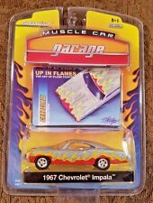 """Greenlight 1967 Chevy Impala """"Up In Flames"""" Die-Cast Car 1:64 Muscle Car Garage"""