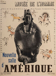 Original Vintage Poster - Falck Jarl - Human Muséum - America Exhibition - 1939