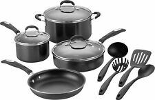 Cuisinart 11-Piece Cookware Set - Black/Silver - FREE SHIPPING - Brand New