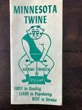 Minnesota Twine Vintage Farm Agriculture Notepad  MN State Prison Stillwater
