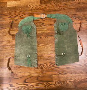 Sears Collectible Vintage Antique Suede Leather Kids Western Cowboy Chaps