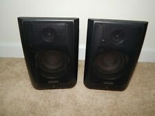 (2) Advent Speakers Clv-A900R Black Wireless 1682 K965 No Power Supply/Adapter