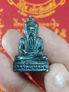 RARE LEKLAI LERSI NARES HERMIT REAL POWERFUL METTA CHARM LUCK THAI BUDDHA AMULET