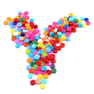 200pcs Mixed Mini Colors Round Shape Buttons Lots 2 Holes Sewing Cloth Craft 6mm