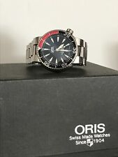 titanium oris diver watch 7562p
