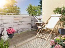 Sicht- und Windschutz, Balkon- und Zaunverkleidung, Steinoptik 0,9 x 3 m,  NEU