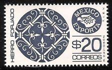 pe073d Mexico Exporta MNH paper 4; Sc#1127 Mc#1498bll Et#ex073d 36.5mm blk viol