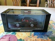 Minichamps Porsche 911 (993) Turbo, Black Metallic. Year 1995, 1/43 Diecast.