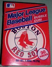 BOSTON RED SOX 1990 BASEBALL BUBBLE GUM BOX, AMUROL