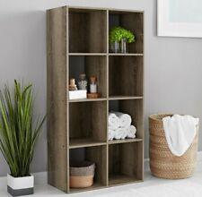 8-Cube Storage Organizer - Rustic Brown