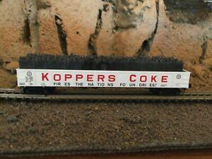 N Scale Micro trains 50' fixed end gondola w/load KGCX KOPPERS COKE NIB