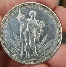Monnaie argent 5 Francs concours Tir de Basel 1879 Suisse