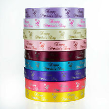 25mm PRINTED PERSONALISED SATIN RIBBON - Mother's Day Logo Branding Florists