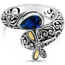 Devata Bali Croix Argent Sterling 925 Boucles d/'oreilles pendantes or 18K Améthyste DHN3232AM