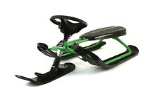 Stiga Snow Racer Sled - FSR Green, Imported from SWEDEN, This one is foldable!