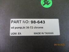 CHROME OIL PUMP ASSEMBLY HARLEY DAVIDSON BIG TWIN MODELS 1936-1972