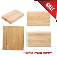 PICK YOUR SIZE Wood Commercial Restaurant Solid Cutting Board Butcher Block New