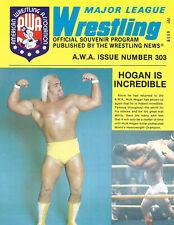 AWA Wrestling Program Issue Number 303(1980'S)
