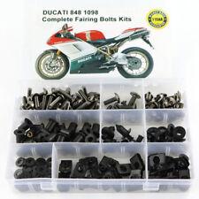 Motorcycle Fairing Bolts Kit Bodywork Screws Nuts For Ducati 848 1098 Titanium