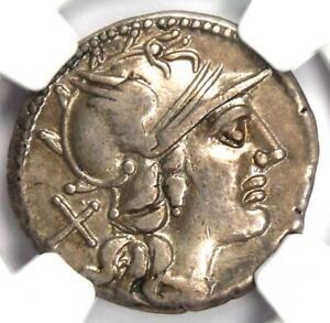 Roman Republic P. Aelius Paetus AR Denarius Coin 138 BC - Certified NGC VF