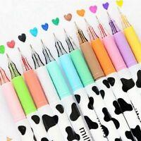 12 pcs gel pen Tiny Milk cow pen school Stationery Sundries stationary store SR