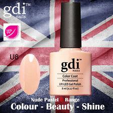 UK SELLER Gdi Nails NUDE Range U08 UV/LED Gel Soak Off nail polish
