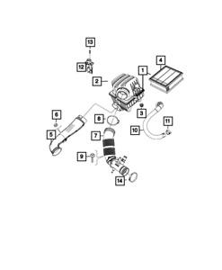 Genuine MOPAR Air Cleaner 68403697AA