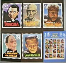 "17 Jumbo Postcards of Classic Movie Monsters USPS 1997 5 X 7"" in ORIGINAL FOLDER"