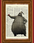 Oogie Boogie Dictionary Art Print Poster Nightmare before Christmas
