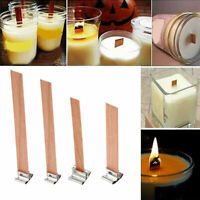 10 Candle Wicks Wooden Wick Core Smokeless Party Festival Candle Making Supplies