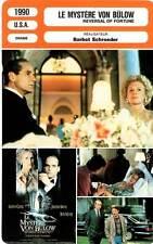 FICHE CINEMA : LE MYSTERE VON BULOW Irons,Close,Schroeder1990Reversal Of Fortune