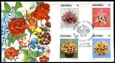 COLOMBIA - FLOWERS FDC, 1982, VF